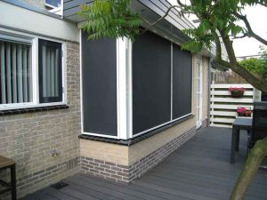 Screen creme en antraciet doek